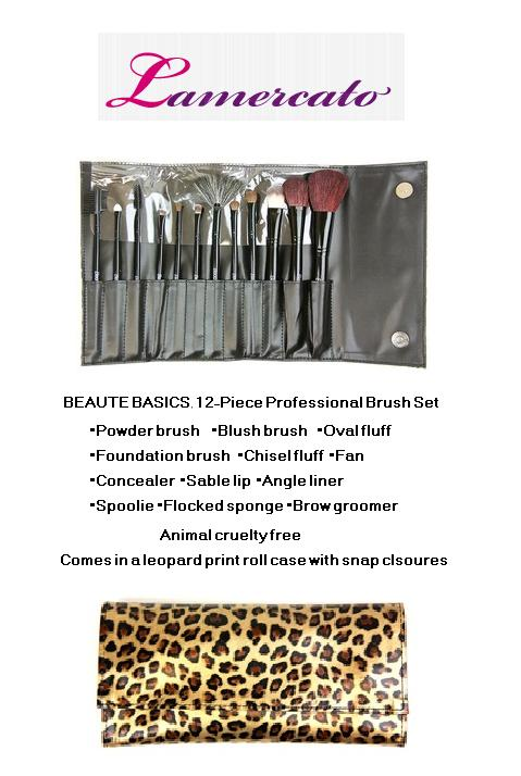 New at Lamercato.com BEAUTE BASICS 12 Piece Set